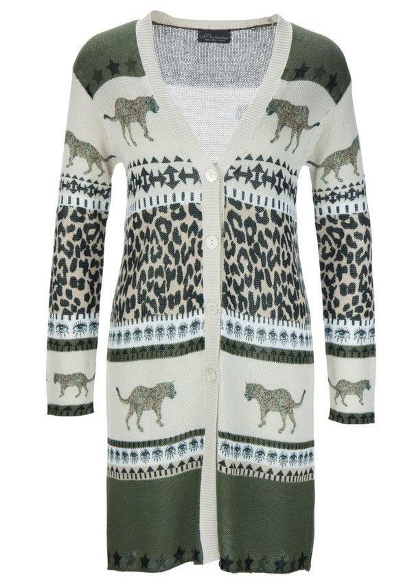 "Princess goes Hollywood Long Strick Jacke ""Animal Patch"""