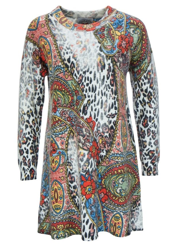 "Frogbox Strick Kleid / Long Pullover ""Leo Paisley"""